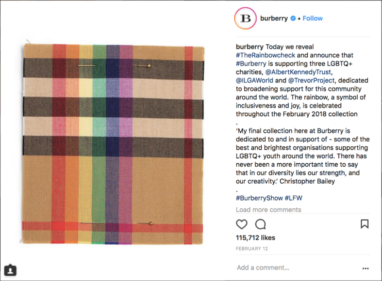 Burberry Instagram